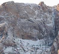 Rock Climbing Photo: Horseshoe Wall frozen.