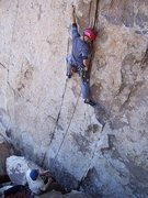 Rock Climbing Photo: Zeke styling on Mr. Bunny's Refund Check.  Worthwh...