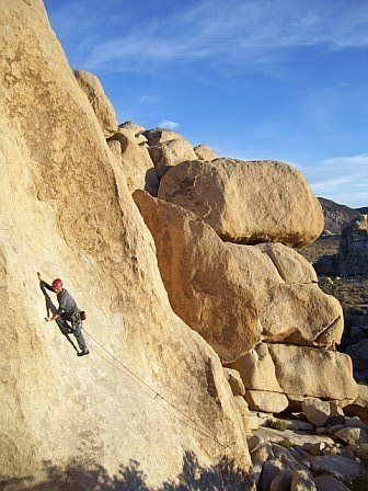 Rock Climbing Photo: Zeke works up Chalk Up Another One on a cherry Dec...
