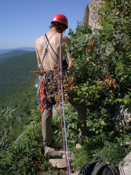 brother joe peeing on the famous whitney gilman ridge.