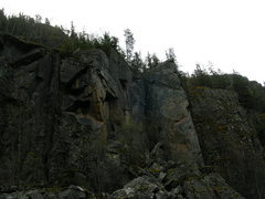 Rock Climbing Photo: The bolted Arete @ Black Lake Wall, near Skagway, ...
