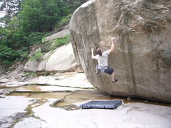 Rock Climbing Photo: Jared LaVacque gearing up for the crux on Rands Di...