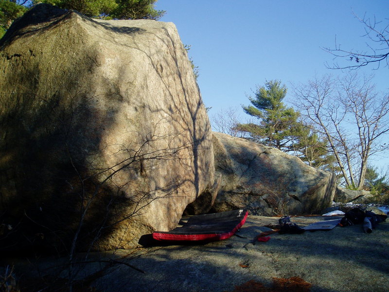 You can get a better idea of the angle of it with this picture. Beautiful rock, isn't it?