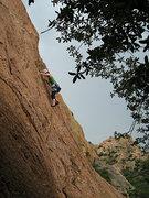 Rock Climbing Photo: Me leading BJGS