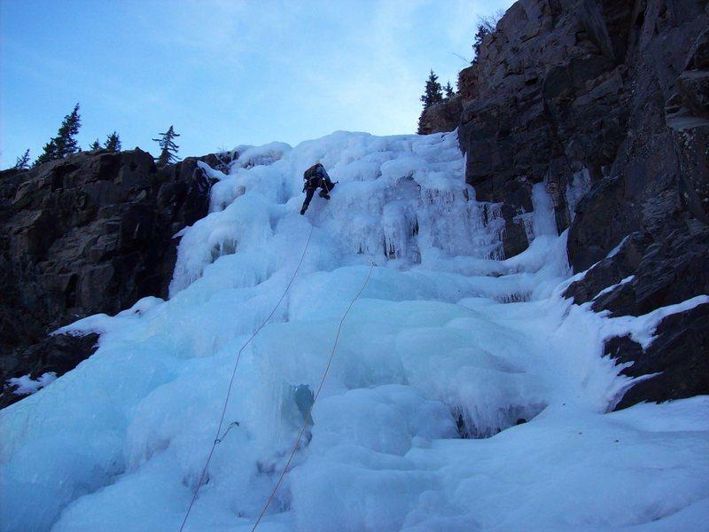 Rock Climbing Photo: First pitch hero ice.