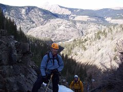 Rock Climbing Photo: Perfect weather conditions.  Note the Lime Creek R...