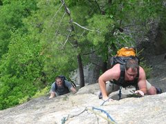 Rock Climbing Photo: Wait for Uncle G to get to the top of this amazing...