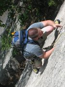 Rock Climbing Photo: You can see how deep the hands sink in to the crac...