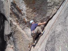 Rock Climbing Photo: Tim H. climbing Bat Crack.