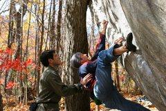 Rock Climbing Photo: Dime Crack (V4)
