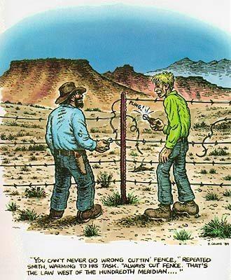 Rock Climbing Photo: Always cut fence.