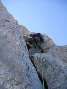 Rock Climbing Photo: Brad begining the last pitch