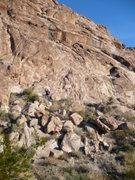 "Rock Climbing Photo: ""Shoshone Tears"" - Climb face and cracks..."