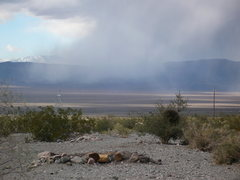 Rock Climbing Photo: From Keyhole Canyon a localized snow storm moving ...