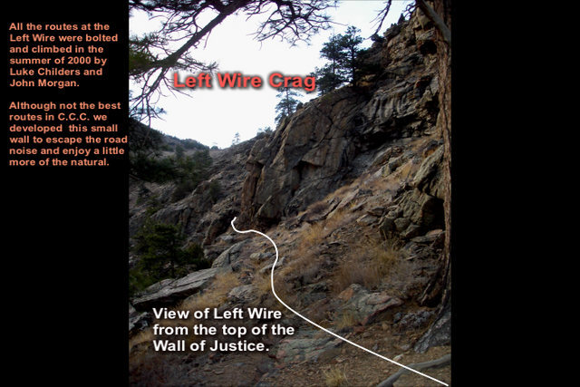 Rock Climbing Photo: The 1st view of Left Wire.