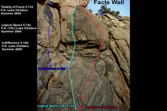 Rock Climbing Photo: Facts Wall.  Left of the break from the Pink Wall.