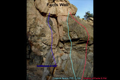 Rock Climbing Photo: Another view of the Facts Wall.