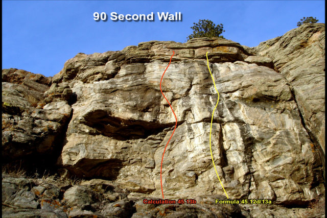 90 Second Wall from the base of the routes.
