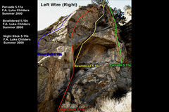 Rock Climbing Photo: The rightmost route on the east-facing wall of the...