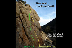 Rock Climbing Photo: Left Wire (Pink Wall) looking east.