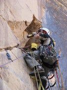 Rock Climbing Photo: A tag line is used to send critical equipment to t...