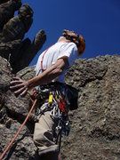"Rock Climbing Photo: ""Loving"" that Cathedral Spires granite!!"