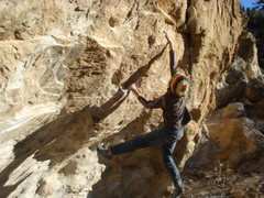 Rock Climbing Photo: ute valley sticking the throw