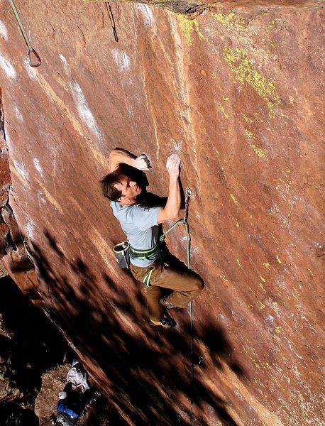 Rock Climbing Photo: Dan pretending he has a hold.