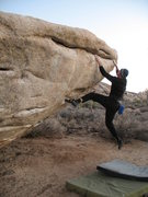 Rock Climbing Photo: Traversing the horizontal on the Meadows Traverse ...