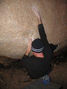 Rock Climbing Photo: Starting into the crux of Raspberry (V6), Joshua T...