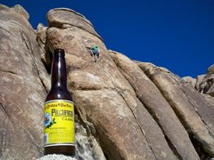 "Rock Climbing Photo: Mike drinks when he has a ""Party in the Deser..."