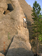Rock Climbing Photo: Peter at the first bolt
