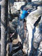 Rock Climbing Photo: Calvin Landrus climbing w/ Brad Killough spotting ...