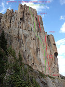 Rock Climbing Photo: The East Buttress (Point 12387) of Arrowhead viewe...