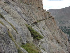 Rock Climbing Photo: Photo of Ledge 1 looking northeast toward the bott...