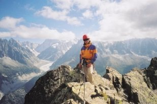 Rock Climbing Photo: Me on the summit of L'Index. Chamonix, France.