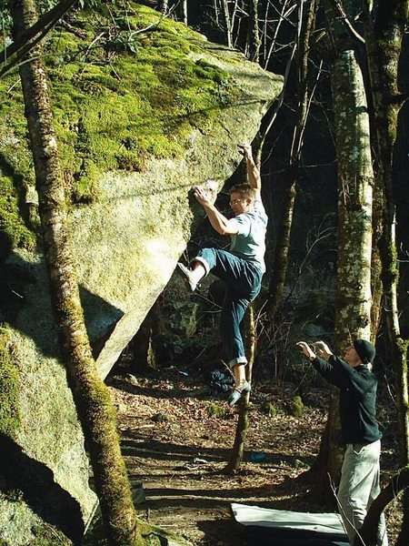 Rock Climbing Photo: Nate Woods on Ecocide V10