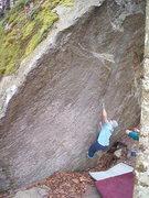 Rock Climbing Photo: Nate Woods on Goldfinger V10