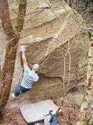 Rock Climbing Photo: Nate hitting the 'Spock' hold on Shopping For Bloo...