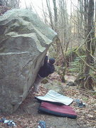 Rock Climbing Photo: Leroy Froese on Split Tip V3
