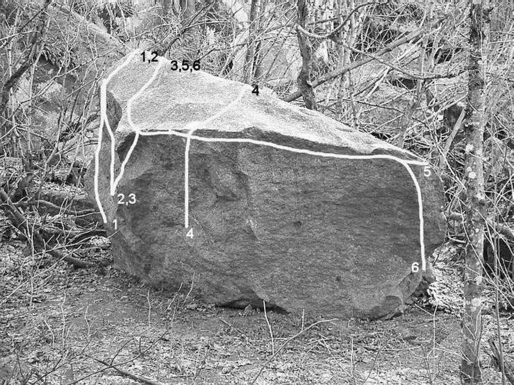 Rock Climbing Photo: 3. Trent's Problem V0+