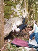 Rock Climbing Photo: Leroy Froese on Hillside Strangler V4/5.
