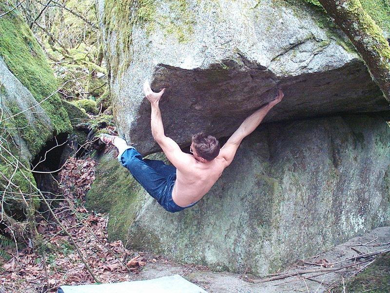 Rock Climbing Photo: Nate Woods on Tube Socket V9