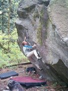 Rock Climbing Photo: Quinn Chevalier on the classic Sleight of Hand V5