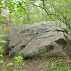 One of the Babson Boulders in Dogtown, MA