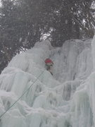 Rock Climbing Photo: First Ice climb (2005)