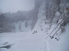 Rock Climbing Photo: Amphitheater and upper gorge from upriver.  Salmon...
