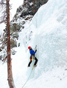 Rock Climbing Photo: Ice Climbing at Lincoln Falls