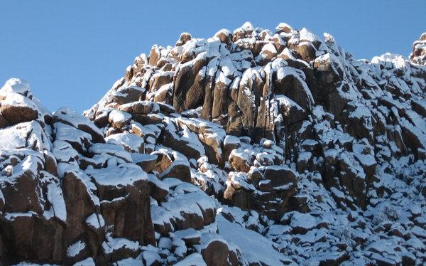 Wonder Bluffs after snow.<br> Photo by Blitzo.