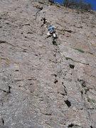 Rock Climbing Photo: Leading Utah Crack May 2008